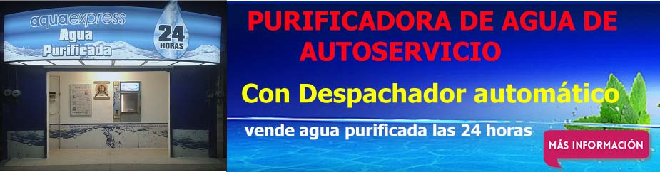 purificadora de agua automatica