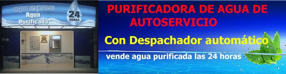 purificadora de agua automatica kiosco banner