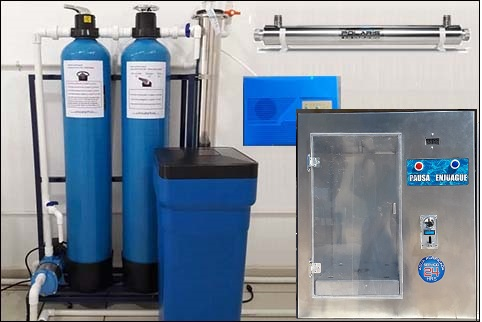 purificadora de agua con despachador 24 horas