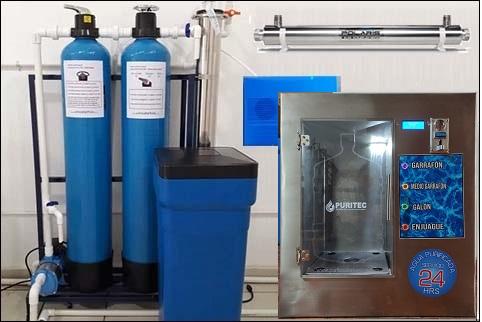 purificadora de agua con despacgador