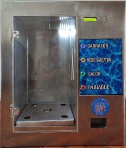 despachador automatoco de agua da cambio